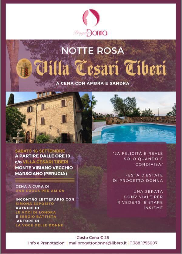 Flyer Villa Cesari Tiberi